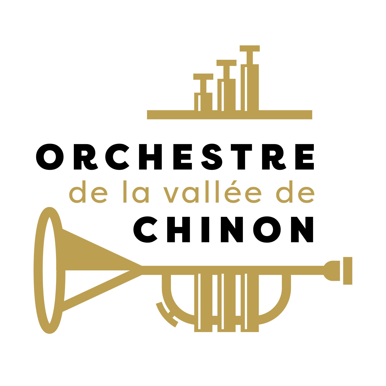 Logo de l'Orchestre de la Vallée de Chinon en forme de trompette